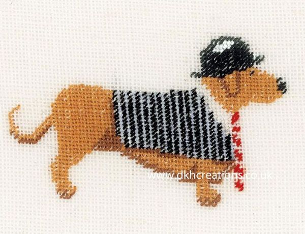 Dog In Bowler Cross Stitch Kit